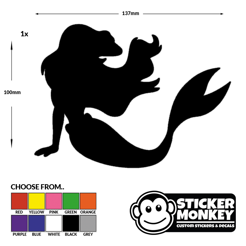 Disney decal little mermaid ariel window sticker car laptop free pp