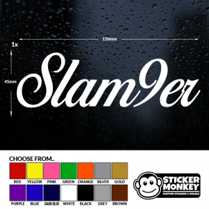 SLAM9ER 20cm Slamber City M9 Window Windscreen Medium Car Vinyl Sticker